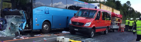 Welsh coach crashes in Switzerland